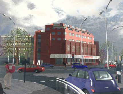 Air-rights development in Stamford Hill