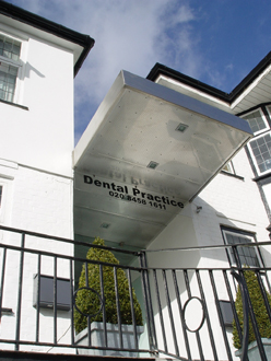 New entrance to dental surgery